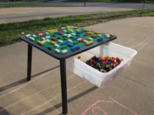 Lego Table Made Out Of Cheap Kids Folding Table