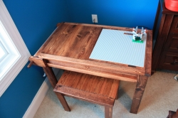 Make Your Own Wooden Lego Table For Two With Storage