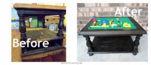 Lego Table Made Out Of Old Table