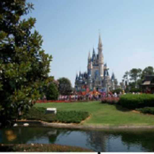 This is an image of Disney World, but is not a decal.