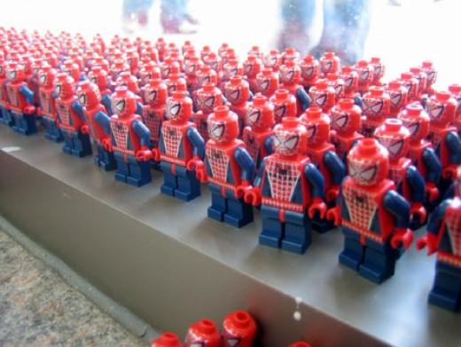 Spiderman Legos On Window