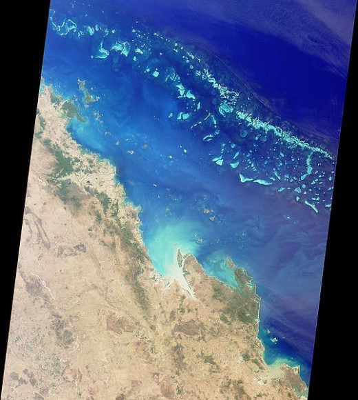 Overhead View of Great Barrier Reef
