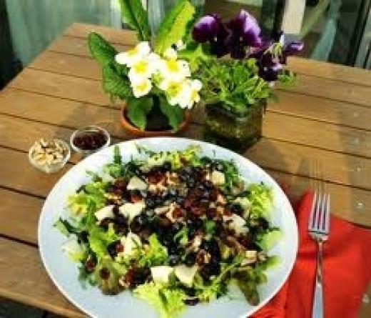 Blueberry Walnut Salad with Citrus Vinaigrette by Olive Aguas