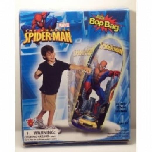 boys spiderman punching bag