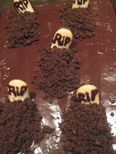 Texas Halloween Sheet Cake