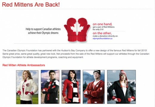 Red Olympic Mittens New Design