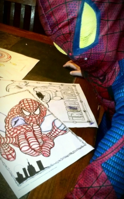 Superhero Giant Coloring Book Pages