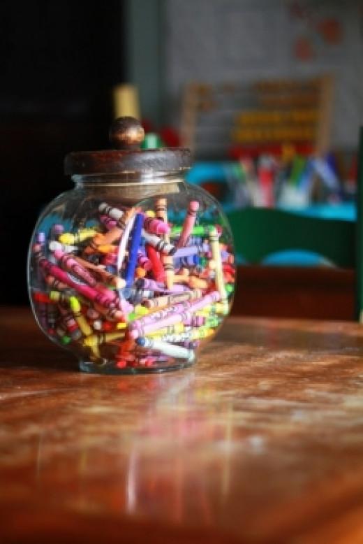 Cool Crayon Storage Ideas