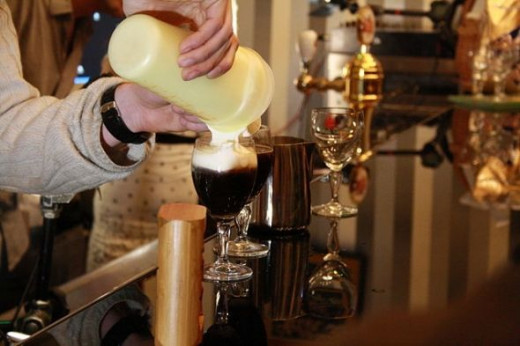making Irish Coffee