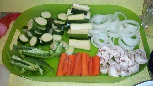 Cut Vegetables for Tempura