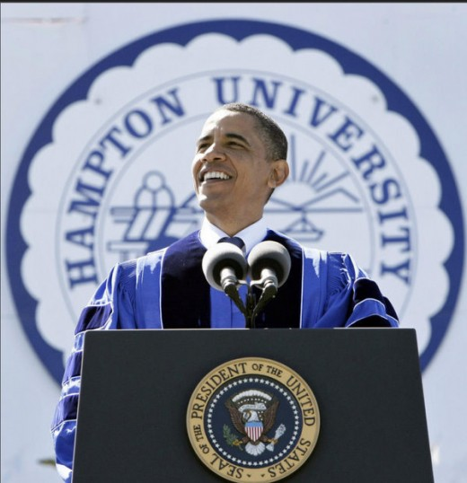 As a graduate of Hampton University in 2010, I was fortunate enough to have President Barack Obama as my Commencement Speaker.