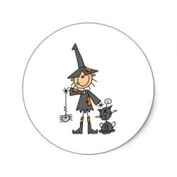 Witch sticker or card available at Zazzle.com