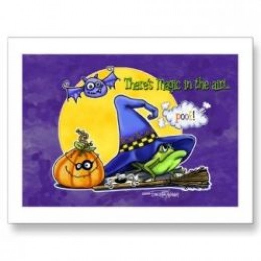 Witch Magic Postcard available at Zazzle.com