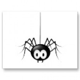 Black Spider Postcard available at Zazzle.com