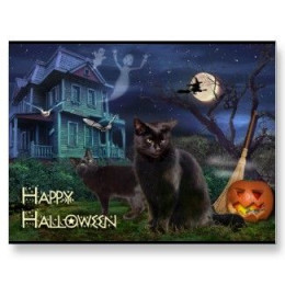 Happy Halloween Postcard available at Zazzle.com