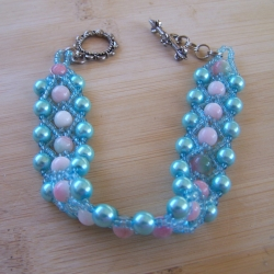 Pearl and Candy Jade Bracelet