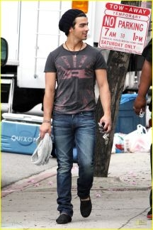 Joe Jonas in TOMS Shoes