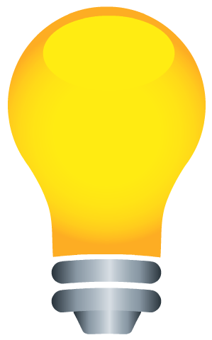 Free Earth Day clip art -- light bulb