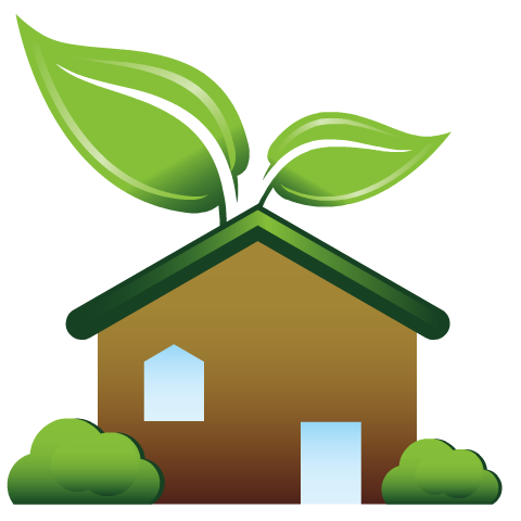 Earth Day clip art -- green house
