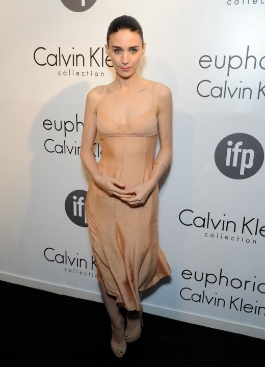 Rooney Mara in Calvin Klein slip1
