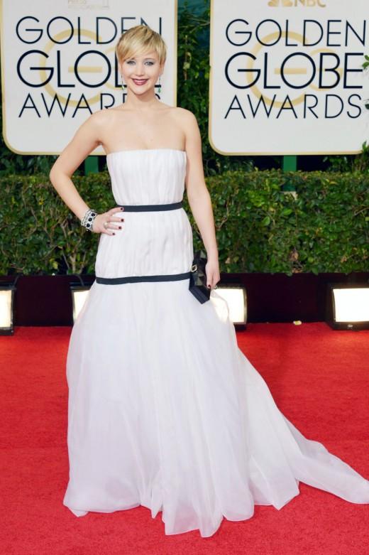 Jennifer Lawrence 2014 Golden Globe