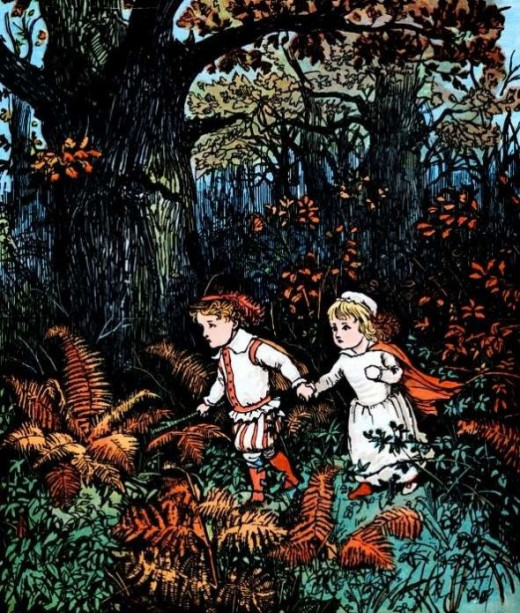 Babes in the Wood, illustrated by Caldecott