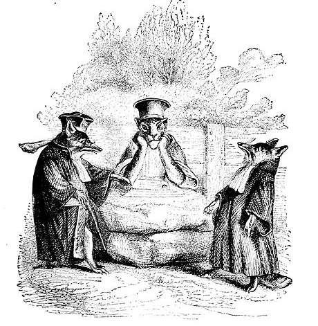 One-of-Grandville-s-illustrations-from-Florians-Fables