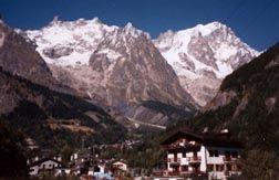 Mont Blanc at Courmayeur