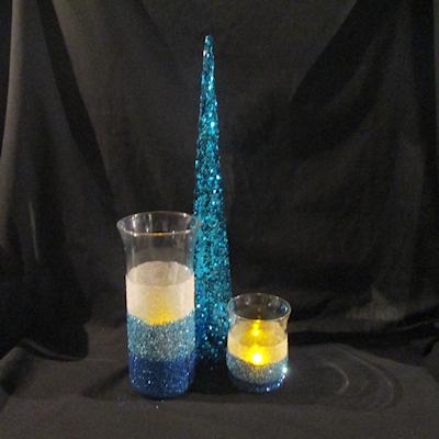 DIY Glitter Candle Holder Craft