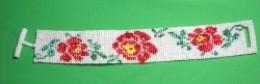 Filet Rose in Color - Loom Bracelet Pattern