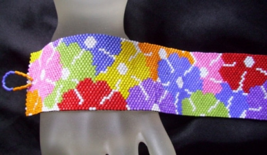 Rosemary's Bracelet Pattern - used for dog collar above