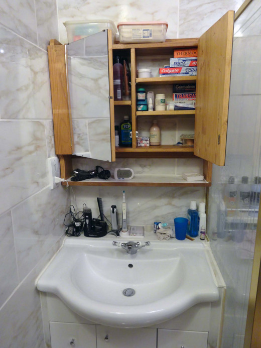 Bathroom cabinet with adjustable shelves & How to Make a Bathroom Wall Cabinet | HubPages