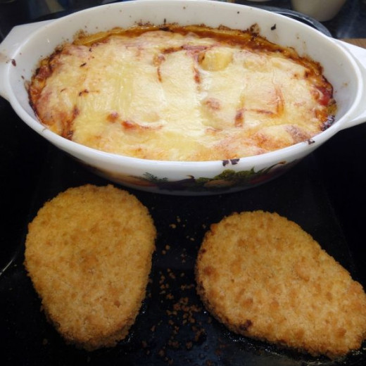Roast Potato and cheese pie bake