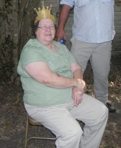 Granny with her crown