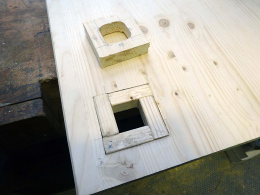Glue and fit the wooden squares in place