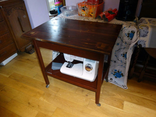 Tea Trolley come sewing table