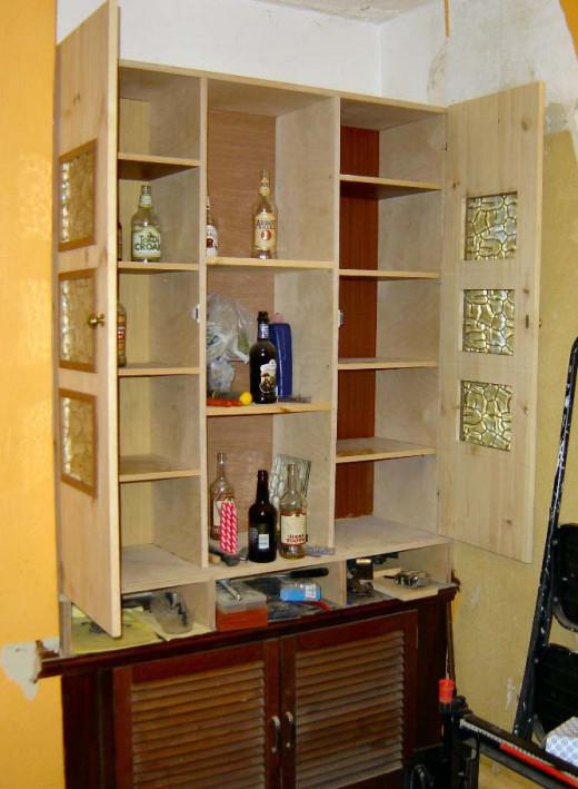 Shelves added to Welsh Dresser