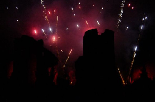 Fireworks Display at Chateau De Commequiers