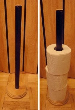 Wooden WC Roll Holder