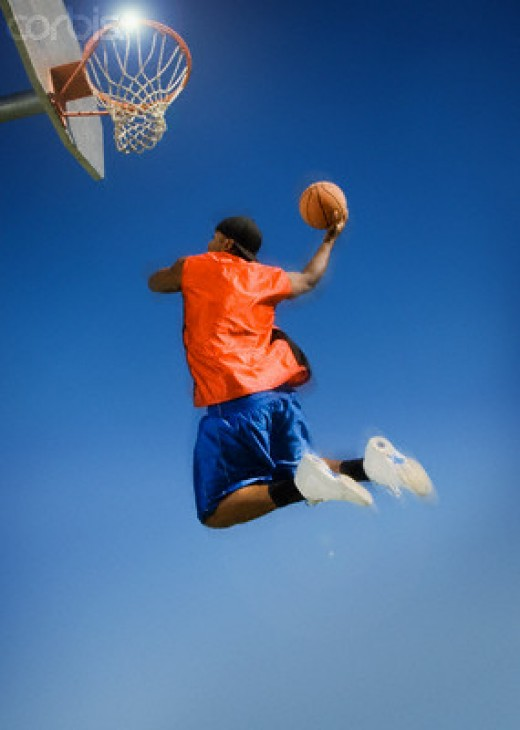 The player that jumps often will usually get the ball over the player that can jump higher.