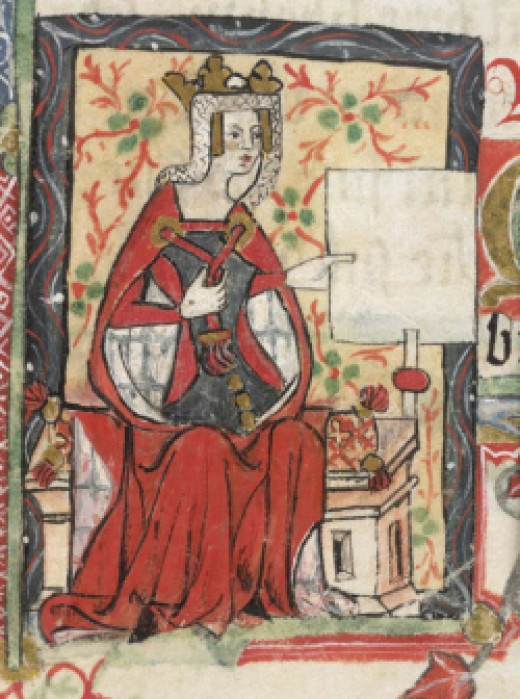 """Portrait of Empress Mathilda, from """"History of England"""" by St. Albans monks (15th century)"""
