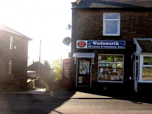 This is the local Post Office and corner shop - just a few paces away from 5 Chiserley Field Side - newspapers, groceries and plenty of chat