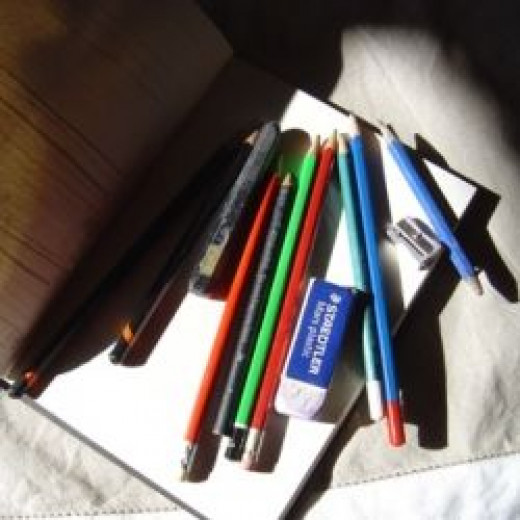 Pencil drawing equipment