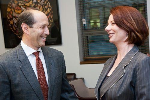 Australian Prime Minister Julia Gillard with U.S. Ambassador Jeff Bleich in June 2010.