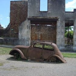 Oradour-sur-Glane, Limousin, France, martyr village