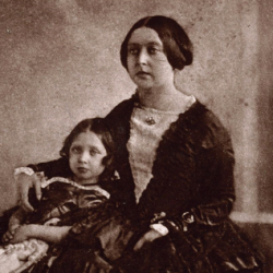 Earliest photograph of Queen Victoria, with the Princess Royal, Victoria Adelaide Mary