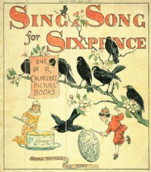 Illustration from Sing a Song for Sixpence (1880) by Randolph Caldecott (d. 1886)