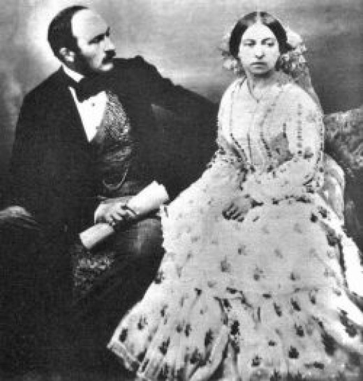 Queen Victoria and Prince Albert 30 June 1854