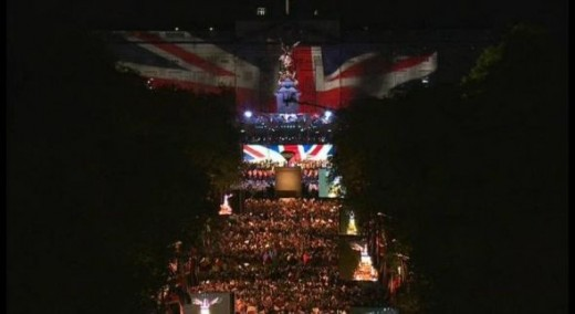 Buckingham Palace at the Diamond Jubilee Concert