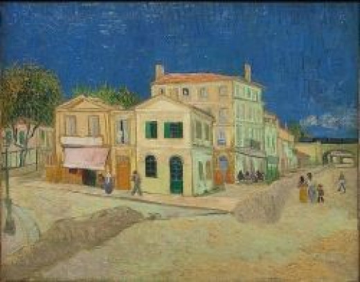 The Yellow House by Van Gogh Vincent's house at Arles. 1888 (Now in the Van Gogh Museum, Amsterdam)